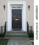 white wood bordered black door... | Shutterstock . vector #68068864