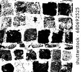grunge black white. abstract... | Shutterstock . vector #680692525