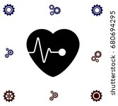 hearts vector icon  flat design ...   Shutterstock .eps vector #680694295