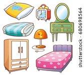 vector illustration of cartoon... | Shutterstock .eps vector #680698564