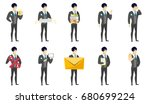 cheerful asian bridegroom... | Shutterstock .eps vector #680699224