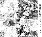 grunge black white. abstract... | Shutterstock . vector #680700739
