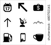 set of 9 miscellaneous icons... | Shutterstock .eps vector #680702161