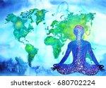 abstract human meditator chakra ... | Shutterstock . vector #680702224