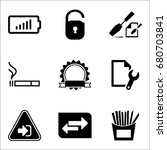 set of 9 miscellaneous icons... | Shutterstock .eps vector #680703841