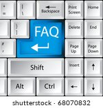 computer keyboard with support...   Shutterstock .eps vector #68070832