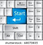 computer keyboard with start key | Shutterstock .eps vector #68070835