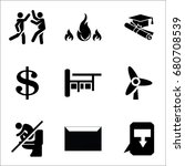 set of 9 miscellaneous icons... | Shutterstock .eps vector #680708539