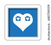 heart icon vector flat design...   Shutterstock .eps vector #680709559
