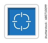 gps navigation icon vector flat ... | Shutterstock .eps vector #680710099