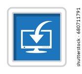 computer display icon vector...