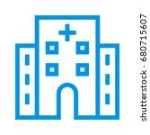 hospital icon | Shutterstock .eps vector #680715607