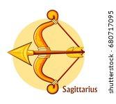 horoscope signs sagittarius | Shutterstock .eps vector #680717095