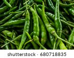 Green Pepper Or Chili From The...