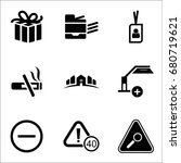 set of 9 miscellaneous icons... | Shutterstock .eps vector #680719621