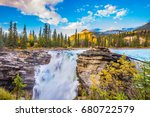 the deep raging falls of... | Shutterstock . vector #680722579