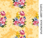 seamless floral pattern with... | Shutterstock .eps vector #680724391