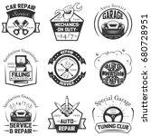 vector set of vintage car...   Shutterstock .eps vector #680728951