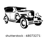 Old Vintage Car Illustration O...
