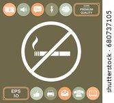 no smoking  smoking ban icon.... | Shutterstock .eps vector #680737105