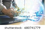 social network concept. global...   Shutterstock . vector #680741779