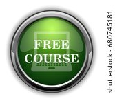 free course icon. free course... | Shutterstock . vector #680745181
