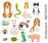 big vector set of different... | Shutterstock .eps vector #680756335