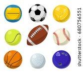 sport equipment. different... | Shutterstock .eps vector #680756551