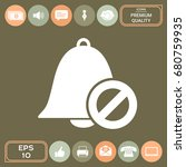 no bell icon. prohibition sign. ... | Shutterstock .eps vector #680759935