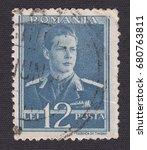 romania   circa 1940  stamp... | Shutterstock . vector #680763811