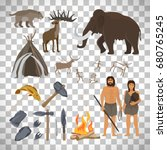 stone age vector isolated on... | Shutterstock .eps vector #680765245