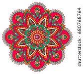 flower mandala. vintage... | Shutterstock .eps vector #680768764