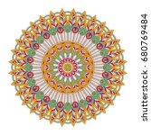flower mandala. vintage... | Shutterstock .eps vector #680769484