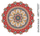 flower mandala. vintage... | Shutterstock .eps vector #680770357