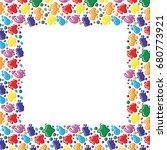 vector illustrations of frame... | Shutterstock .eps vector #680773921