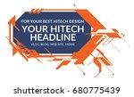 hi tech orange elements... | Shutterstock .eps vector #680775439