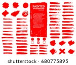 painted grunge stripes set. red ... | Shutterstock .eps vector #680775895
