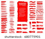painted grunge stripes set. red ... | Shutterstock .eps vector #680775901