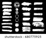 painted grunge stripes set.... | Shutterstock .eps vector #680775925