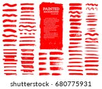 painted grunge stripes set. red ... | Shutterstock .eps vector #680775931