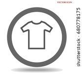 t shirt icon illustration... | Shutterstock .eps vector #680778175