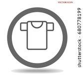 t shirt icon illustration... | Shutterstock .eps vector #680778199