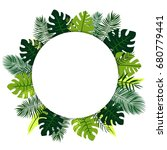 tropical background with white... | Shutterstock .eps vector #680779441