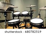electronic drums in a recording ... | Shutterstock . vector #680782519