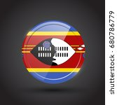 3d rendering of swaziland... | Shutterstock .eps vector #680786779