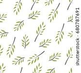 olive brunch seamless pattern.... | Shutterstock .eps vector #680787691