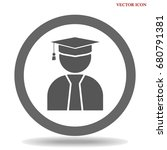 student icon. isolated sign... | Shutterstock .eps vector #680791381