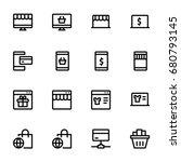 e commerce icon set | Shutterstock .eps vector #680793145