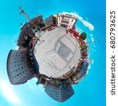 this tiny planet picture is a... | Shutterstock . vector #680793625