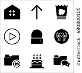 set of 9 miscellaneous icons... | Shutterstock .eps vector #680800105